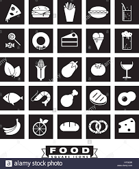 drink vector collection of 25 solid food and drink vector icons in squares