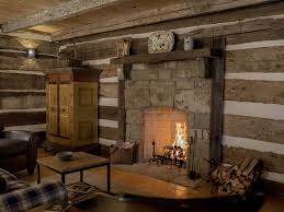 log cabin stone fireplace photos nomadictrade