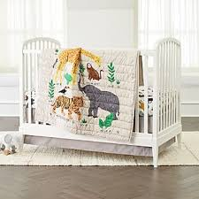 woodland animals baby bedding crib bedding crate and barrel