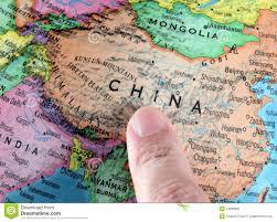 China On Map by China On A Globe Stock Photo Image 44866881