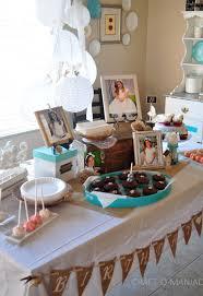 rustic white birthday baptism party craft o maniac
