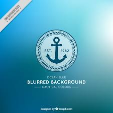 nautical colors nice blurred background with anchor and nautical colors vector