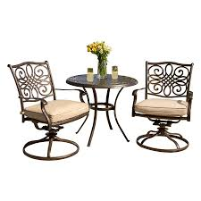Aluminium Patio Furniture Sets Furniture Wonderful Lowes Bistro Set For Patio Furniture Idea