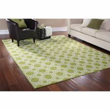 Floor Rugs by Mainstays Rug In A Bag Mosaic Area Rug Green White Walmart Com