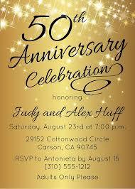 fiftieth anniversary 50th anniversary invitation golden invite 50th anniversary