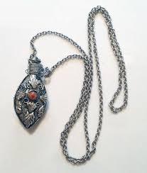 silver bottle necklace images 1970s vintage ornate silver teardrop perfume bottle necklace from jpg