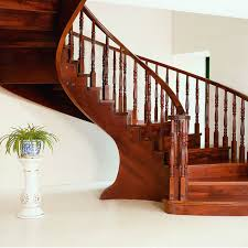 Spiral Stair Handrail Aliexpress Com Buy Solid Wood Interior Rotation Stair Pole