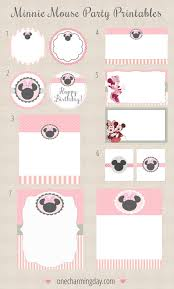 free minnie mouse party printables minnie mouse party mouse