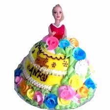 send barbie doll shape cake design 5 to delhi ncr mumbai and