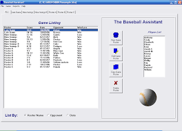 baseball assistant free team roster software