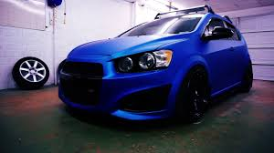 chevy sonic full custom chevy sonic vehicle wrap and custom work done by ead