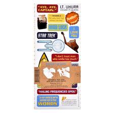 lt uhura star trek greeting card with sticker sheet pink cat shop