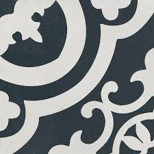 shop the reserve cementina black and white ceramic floor and wall