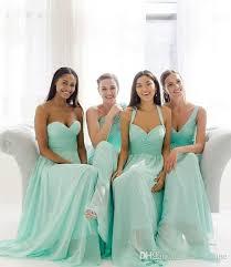 cheap teal bridesmaid dresses aliexpress buy 2017 cheap teal mint green chiffon bridesmaid