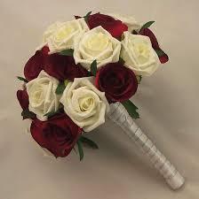 silk bridal bouquet bridal bouquets burgundy ivory bridal bouquet silk