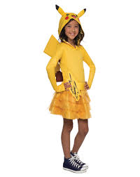 spirit halloween store pokeman pikachu hoodie dress child costume exclusively at spirit