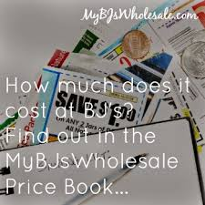 price book to see how much items cost at bj u0027s wholesale club