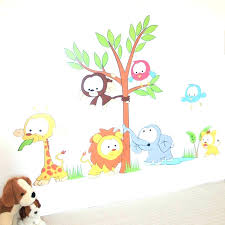 Jungle Nursery Wall Decor Wall Decals Baby Nursery Wall Ideas Wall Decor Design