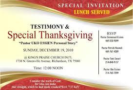best sle church invitation cards thanksgiving day testimony