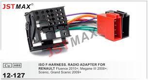 jstmax car dvd radio stereo iso cable adapter for renault fluence
