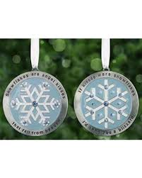 great deals on snowflake ornaments set of 2 ornaments engraved