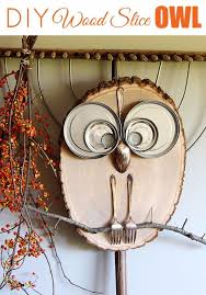easy crafts to make and sell wood slice owl decor cool