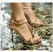 wedding shoes korea free shipping 2015 korea ol colorful rhinestone sandals high heels