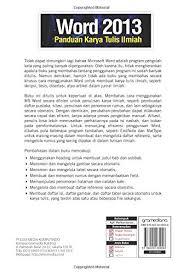 cara membuat daftar gambar word word 2013 panduan karya tulis ilmiah indonesian edition
