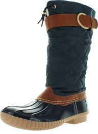 womens boots quilted ny s b7777 duck boot boot with sherpa