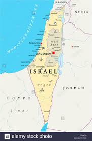 political map of israel israel political map with capital jerusalem national borders