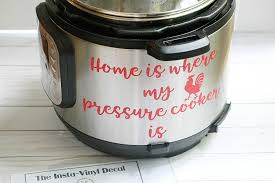 amazon com pressure cooker vinyl decal home is where my pressure