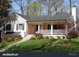 suburban ranch house porch stock photo 30821668 shutterstock
