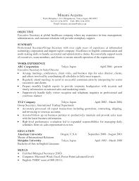 Secretary Resumes Examples by Secretary Resume Sample Free Resume Example And Writing