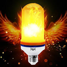 why led light bulbs flicker amazon com yeahbeer led flame effect light bulb e26 flickering