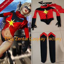 Marvel Halloween Costume Aliexpress Buy Free Shipping Dhl Warbird Binary Ms Marvel