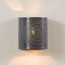 Tin Wall Sconce Chisel Punched Tin Wall Sconce Punched Tin Lighting Pinterest