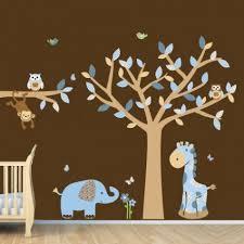 Monkey Nursery Wall Decals Blue Boys Room Jungle Nursery Wall Decals Wall For Nursery