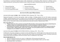 accounts payable resume templates fred resumes