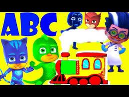 pj masks abc train alphabet adventure learn abcd alphabet song