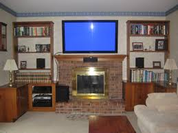 center channel or tv first in over the fireplace install avs