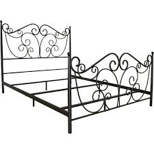 bello b538qdb scroll decorative metal bed frame in dark bronze