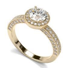 60ctw contemporary vintage halo round diamond engagement ring