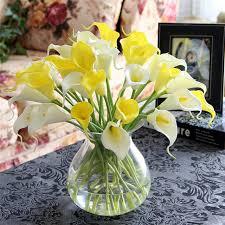 Silk Calla Lilies Aliexpress Com Buy 10pcs Mini Artificial Calla Lily Wedding