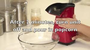 Old Fashioned Popcorn Machine Aph200 Nostalgia Electrics Air Pop Popcorn Maker Youtube