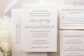 Proper Wedding Invitation Wording Elegant Letterpress Wedding Invitations The Lily Suite