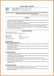 Procurement Sample Resume by Logistics Resume Sop Proposal