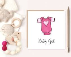 baby girl cards baby girl card etsy