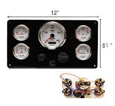 black cummins marine engine instrument panel white gauges u2013 ac dc