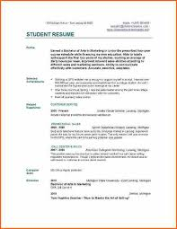 Education On Resume Example by 5 College Student Resume Template Word Budget Template Letter