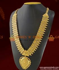 gold long necklace images Arrg190 grand bridal wear heavy gold like long necklace jpg
